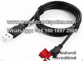Explorador de cable USB viendo tarjetas de codigo de barras marcadas