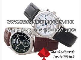 Lector de poker con reloj de pulsera para barajas marcadas con codigos de barras